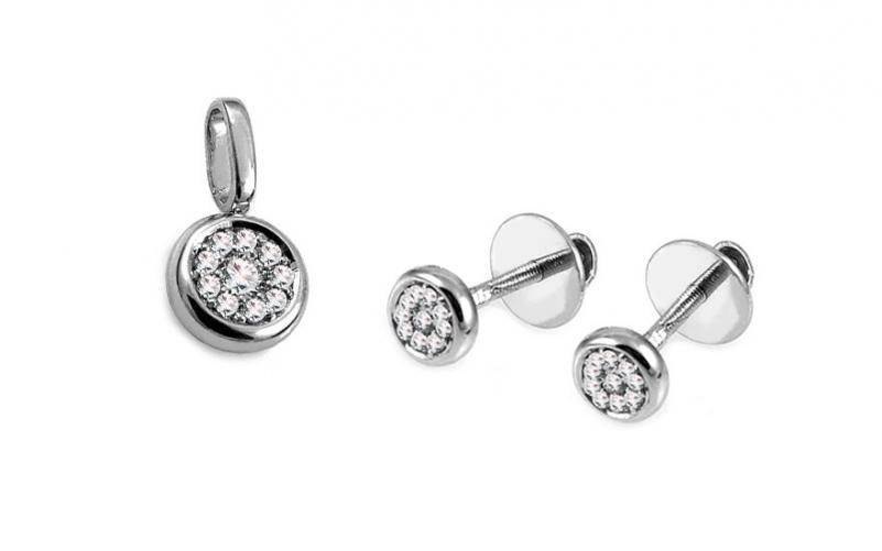 Diamantová souprava 0,230 ct Evonne KU580S