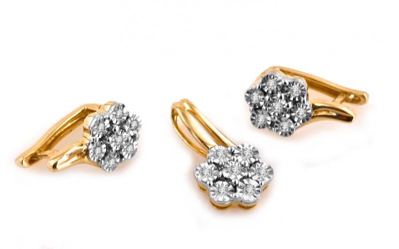 Diamantová souprava 0,240 ct ardiente 10 KU0070Y