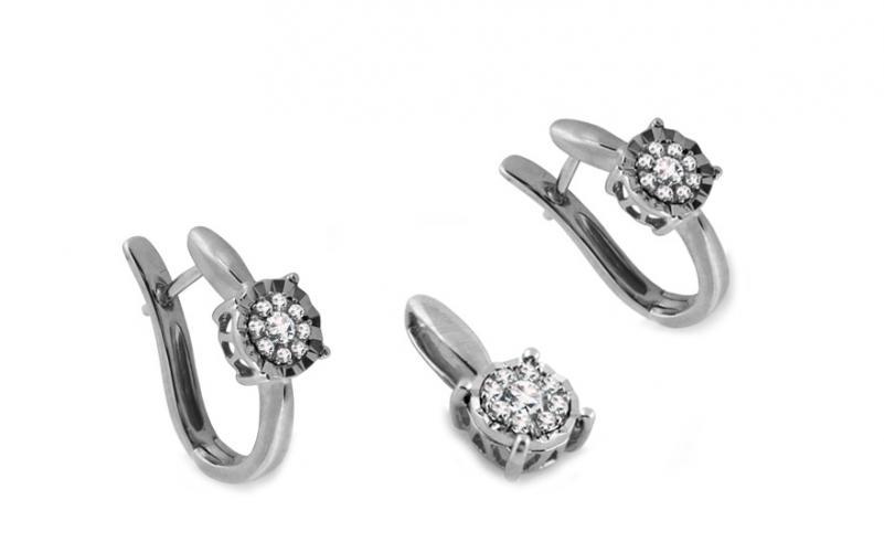 Diamantová souprava 0,240 ct Woman Illusion White 1 KU247AS