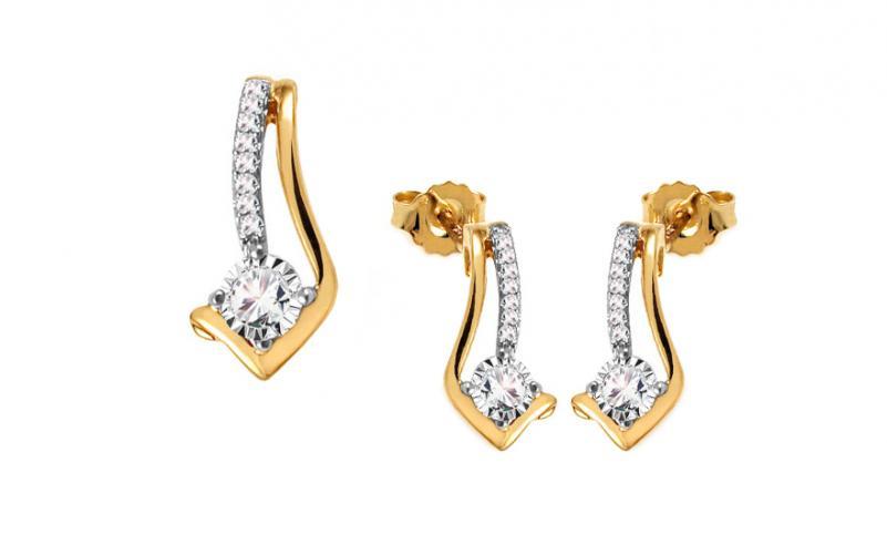Diamantová souprava 0,280 ct Evie KU652S