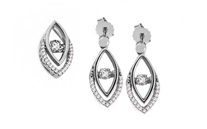 Diamantová souprava 0,310 ct Dancing Diamonds KU726AS