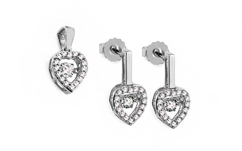 Diamantová souprava 0,370 ct Dancing Diamonds KU723AS