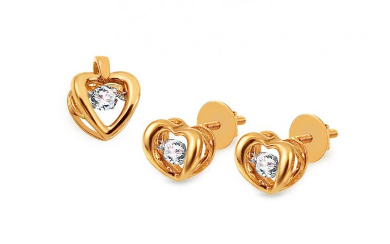 Diamantová souprava 0,430 ct Dancing Diamonds KU901S