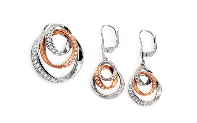 Diamantová souprava 0,480 ct Gorgeous Rings DB0061S