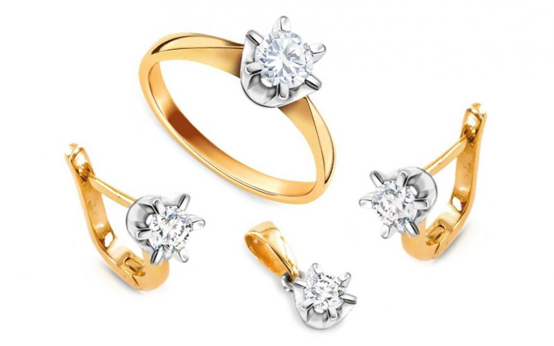 Diamantová souprava 0,650 ct Nella CSBR51S