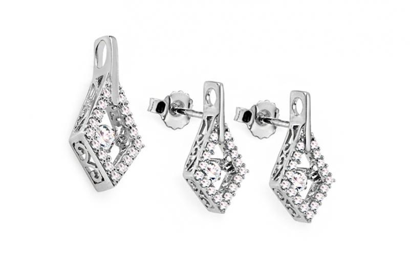 Diamantová souprava 0,770 ct Dancing Diamonds KU661AS