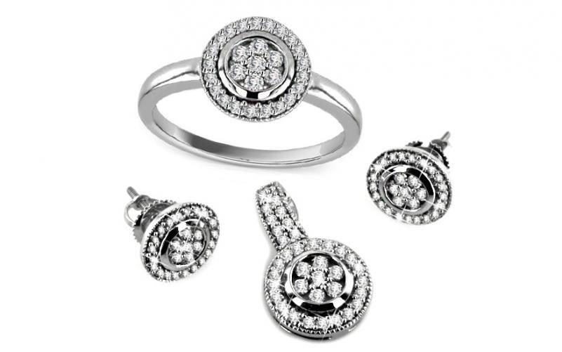 Diamantová souprava 1,250 ct Soleil 2 KU144