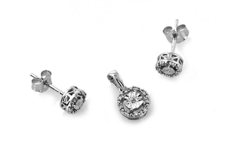 Diamantová souprava 0,110 ct Ardiente white KU212