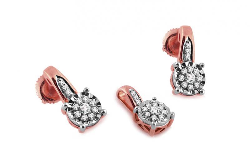 Diamantová souprava 0,260 ct Woman red Illusion KU249RS