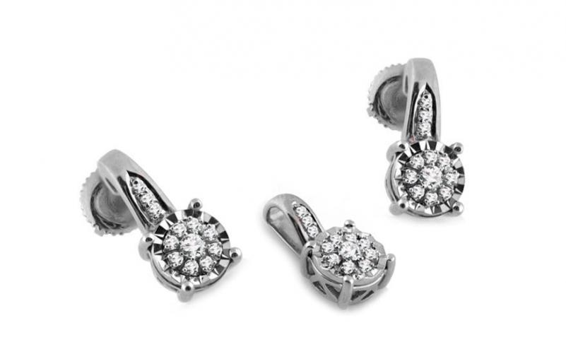 Diamantová souprava 0,250 ct Woman white Illusion KU249AS