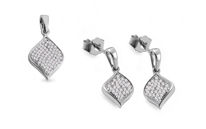 Diamantová souprava z bílého zlata 0,300 ct Nerissa KU790AS