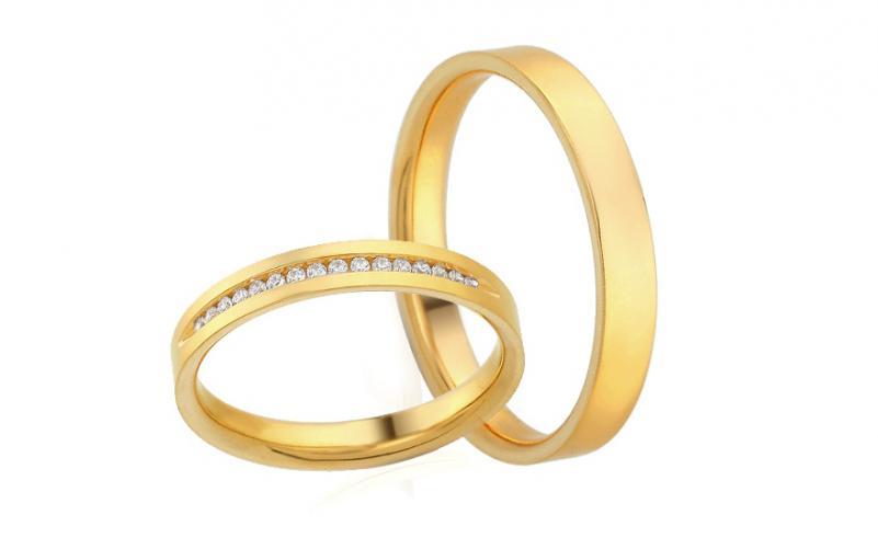 Diamantové snubní prstýnky 0,090 ct Yasmine diamonds 3 mm IZOBBR021