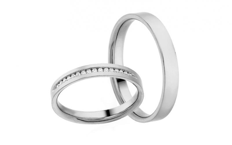 Diamantové snubní prstýnky 0,090 ct Yasmine diamonds 3 mm IZOBBR021A