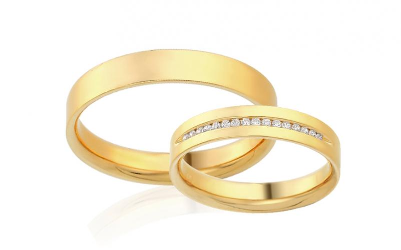 Diamantové snubní prstýnky 0,090 ct Yasmine diamonds 4 mm IZOBBR015