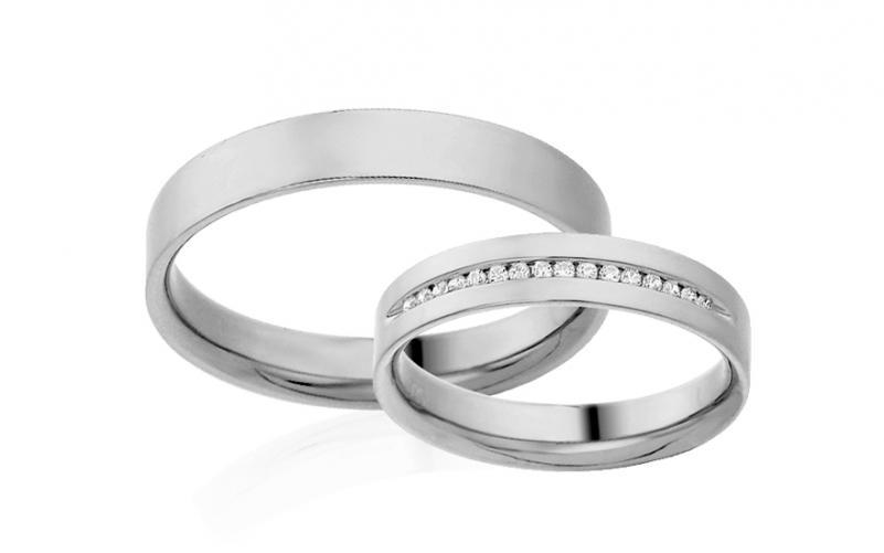 Diamantové snubní prstýnky 0,090 ct Yasmine diamonds 4 mm IZOBBR015A