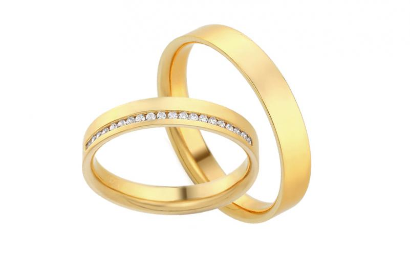 Diamantové snubní prstýnky 0,100 ct Yasmine diamonds 3,5 mm IZOBBR017