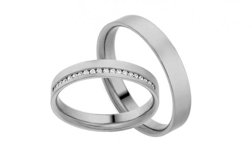 Diamantové snubní prstýnky 0,100 ct Yasmine diamonds 3,5 mm IZOBBR017A