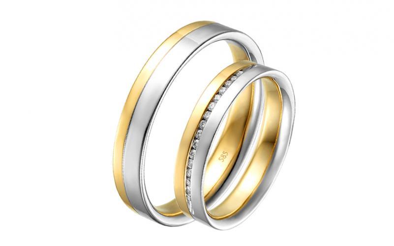 Diamantové snubní prstýnky 0,100 ct Yasmine diamonds 4 mm IZOBBR015AY