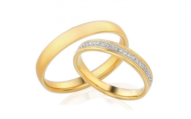 Diamantové snubní prstýnky 0,110 ct Yasmine diamonds 3,5 mm IZOBBR011