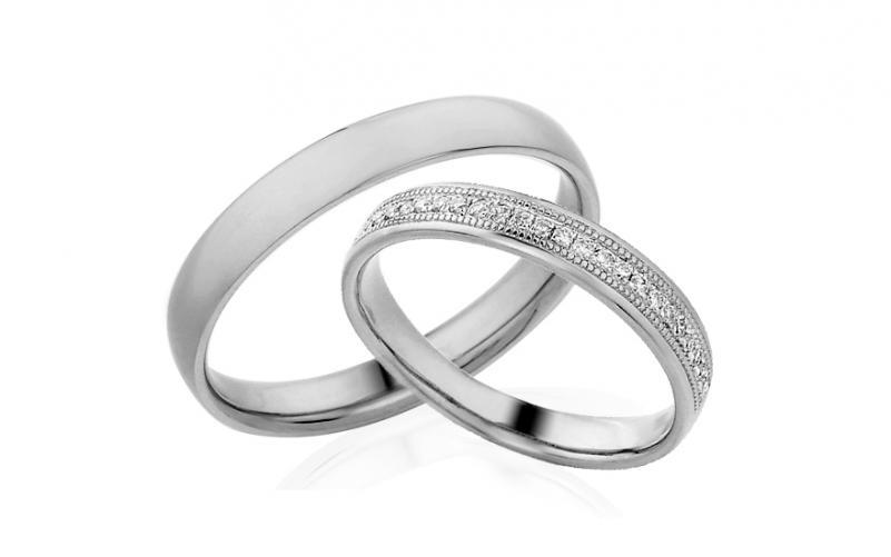 Diamantové snubní prstýnky 0,110 ct Yasmine diamonds 3,5 mm IZOBBR011A