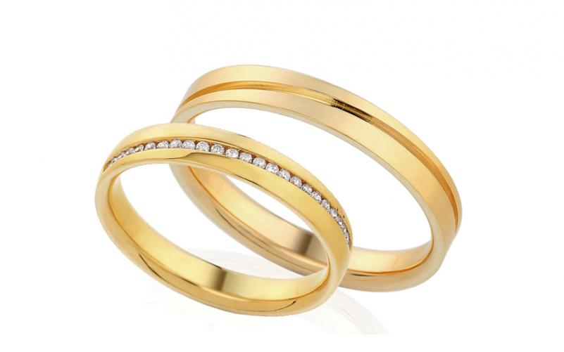 Diamantové snubní prstýnky 0,120 ct Yasmine diamonds 3,5 mm IZOBBR001