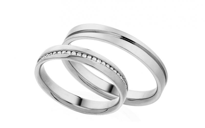 Diamantové snubní prstýnky 0,120 ct Yasmine diamonds 3,5 mm IZOBBR001A