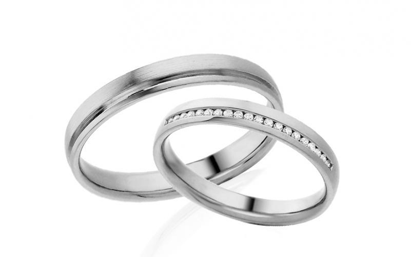 Diamantové snubní prstýnky 0,120 ct Yasmine diamonds 3,5 mm bílé IZOBBR016A