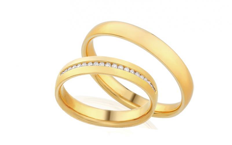 Diamantové snubní prstýnky 0,120 ct Yasmine diamonds 4 mm IZOBBR020