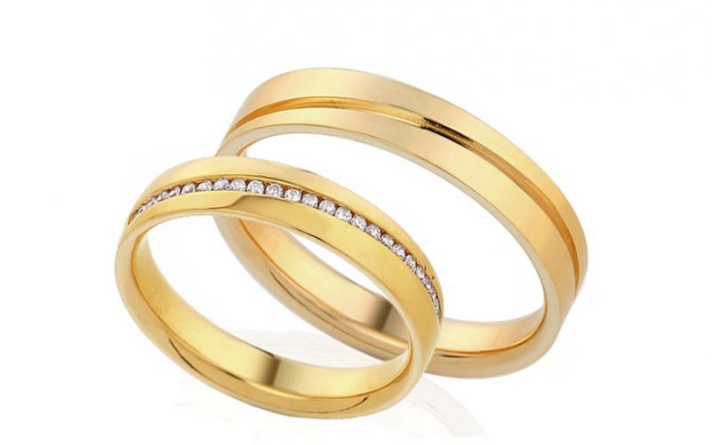 Diamantové snubní prstýnky 0,120 ct Yasmine diamonds 4 mm IZOBBR001-4