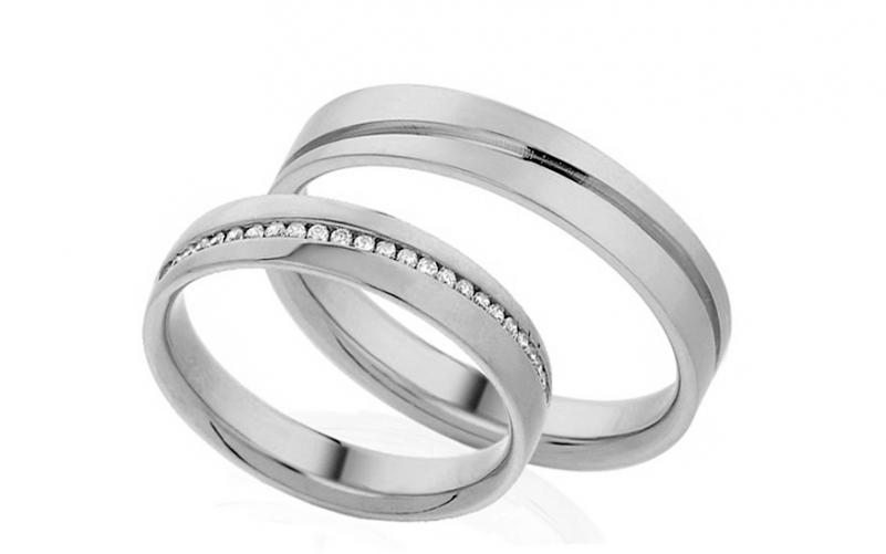 Diamantové snubní prstýnky 0,120 ct Yasmine diamonds 4 mm IZOBBR001-4A