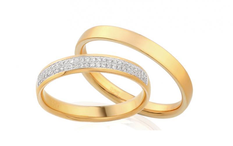 Diamantové snubní prstýnky 0,130 ct Yasmine diamonds 3,5 mm IZOBBR008
