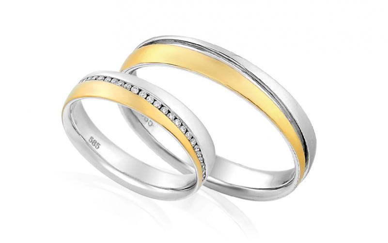 Diamantové snubní prstýnky 0,130 ct Yasmine diamonds 4 mm IZOBBR001AY