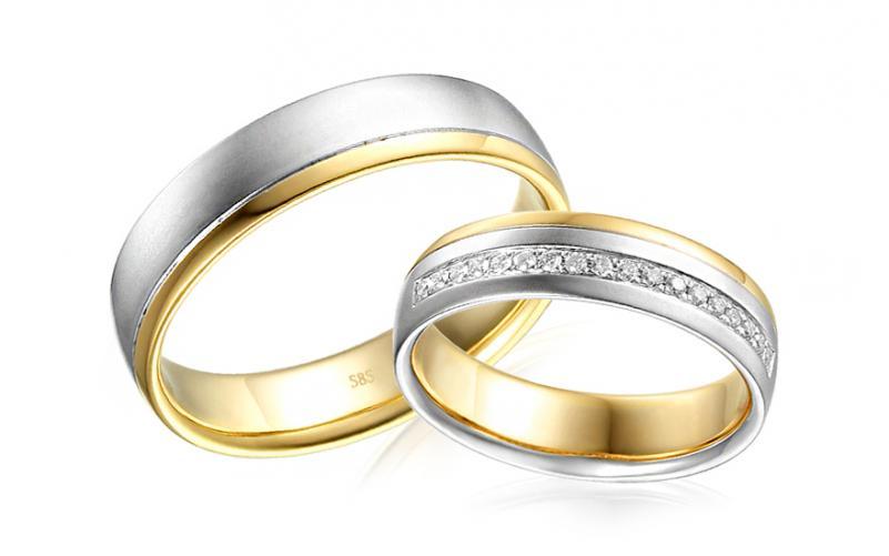 Diamantové snubní prstýnky 0,140 ct Yasmine diamonds 5 mm IZOBBR034