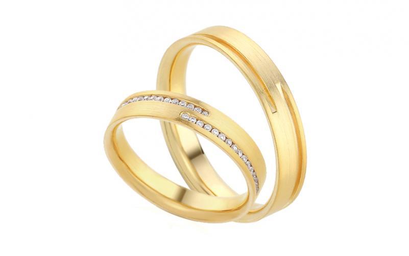 Diamantové snubní prstýnky 0,170 ct Yasmine diamonds 4 mm IZOBBR012