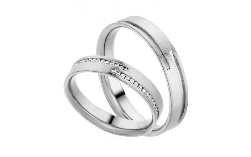 Diamantové snubní prstýnky 0,170 ct Yasmine diamonds 4 mm IZOBBR012A