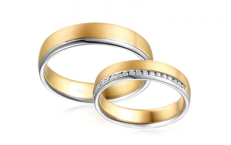 Diamantové snubní prstýnky 0,180 ct Yasmine diamonds 4,5 mm IZOBBR023AY