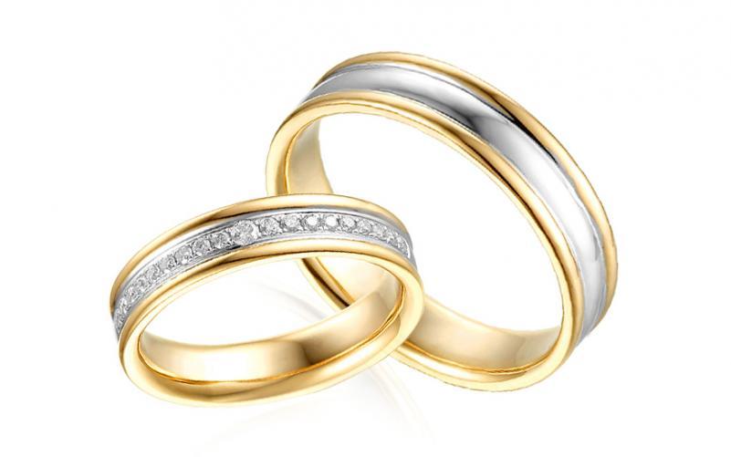 Diamantové snubní prstýnky 0,180 ct Yasmine diamonds 4,5 mm IZOBBR030