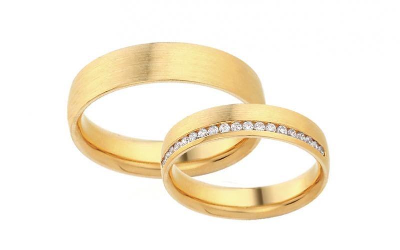 Diamantové snubní prstýnky 0,190 ct Yasmine diamonds 4,5 mm IZOBBR023