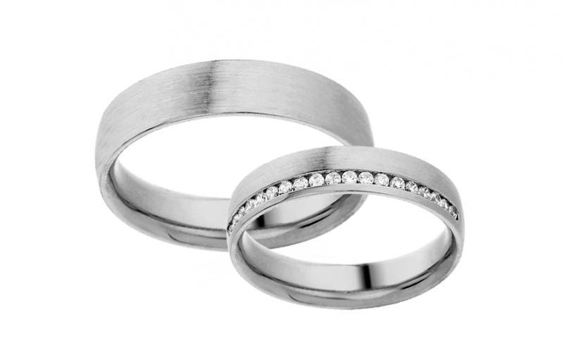 Diamantové snubní prstýnky 0,190 ct Yasmine diamonds 4,5 mm IZOBBR023A