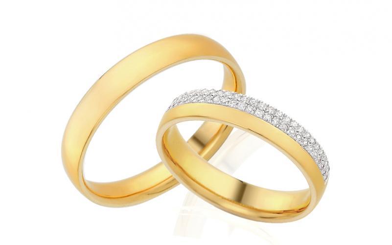 Diamantové snubní prstýnky 0,200 ct Yasmine diamonds 4 mm IZOBBR009