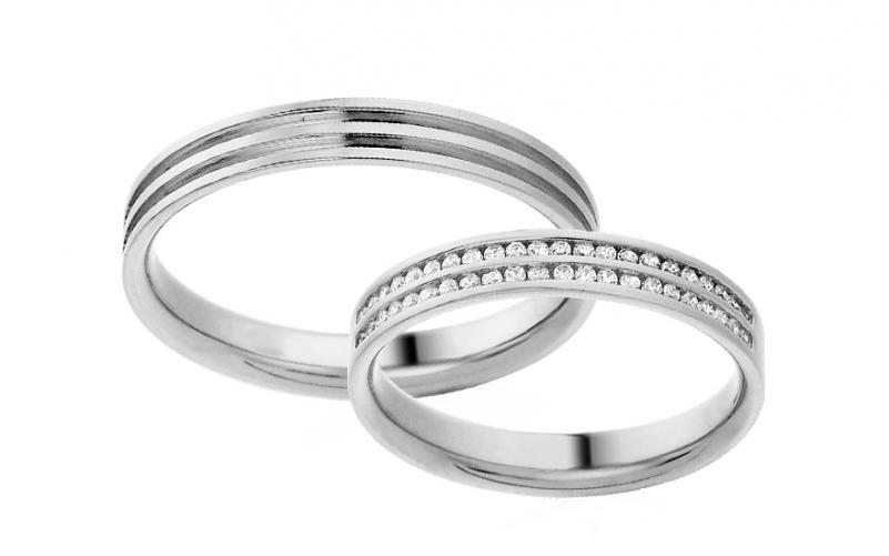 Diamantové snubní prstýnky 0,220 ct Yasmine diamonds 3,5 mm bílé IZOBBR005A
