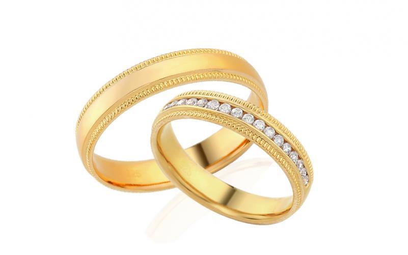 Diamantové snubní prstýnky 0,220 ct Yasmine diamonds 4 mm IZOBBR022