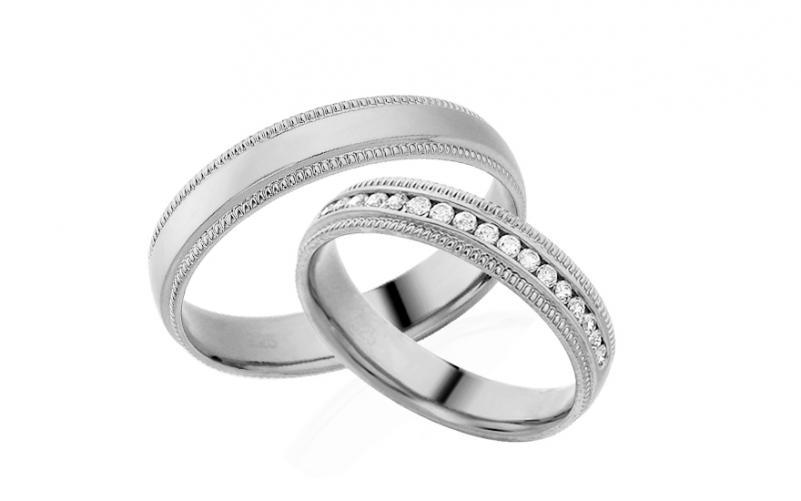 Diamantové snubní prstýnky 0,220 ct Yasmine diamonds 4 mm IZOBBR022A