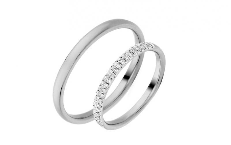 Diamantové snubní prstýnky 0,230 ct Yasmine diamonds 2,6 mm bílé IZOBBR019A
