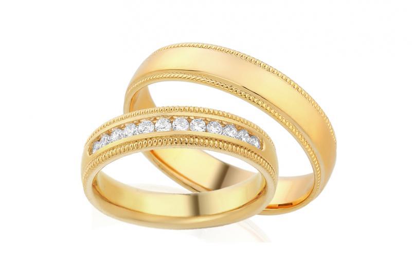 Diamantové snubní prstýnky 0,240 ct Yasmine diamonds 4,5 mm IZOBBR010