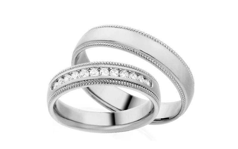 Diamantové snubní prstýnky 0,240 ct Yasmine diamonds 4,5 mm IZOBBR010A