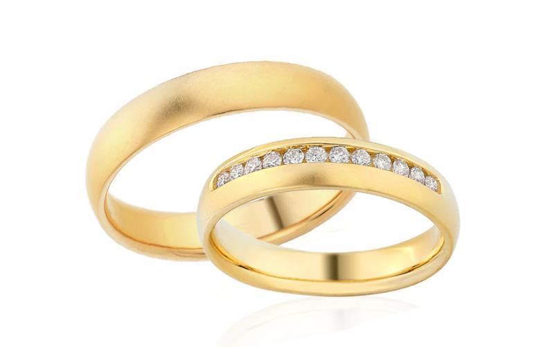Diamantové snubní prstýnky 0,240 ct Yasmine diamonds 4,5 mm IZOBBR014