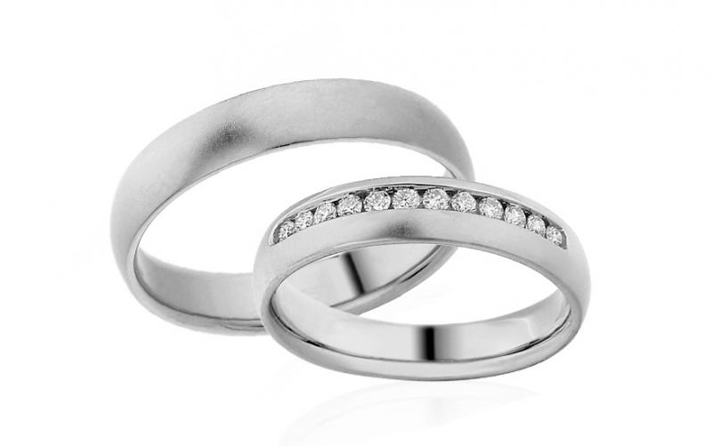 Diamantové snubní prstýnky 0,240 ct Yasmine diamonds 4,5 mm IZOBBR014A