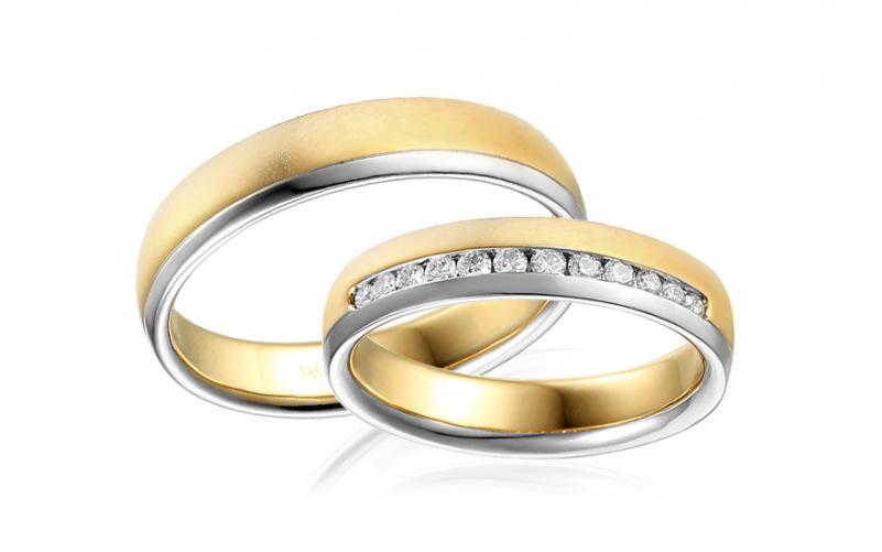 Diamantové snubní prstýnky 0,240 ct Yasmine diamonds 4,5 mm IZOBBR014AY