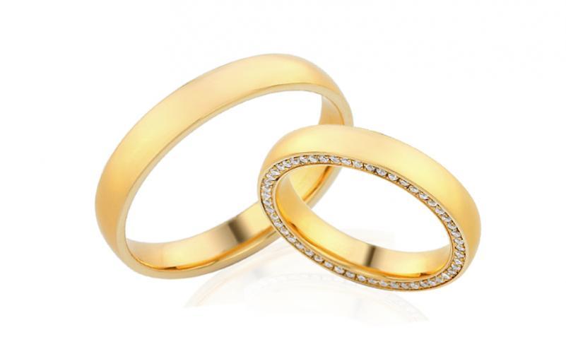 Diamantové snubní prstýnky 0,260 ct Yasmine diamonds 3,5 mm IZOBBR026
